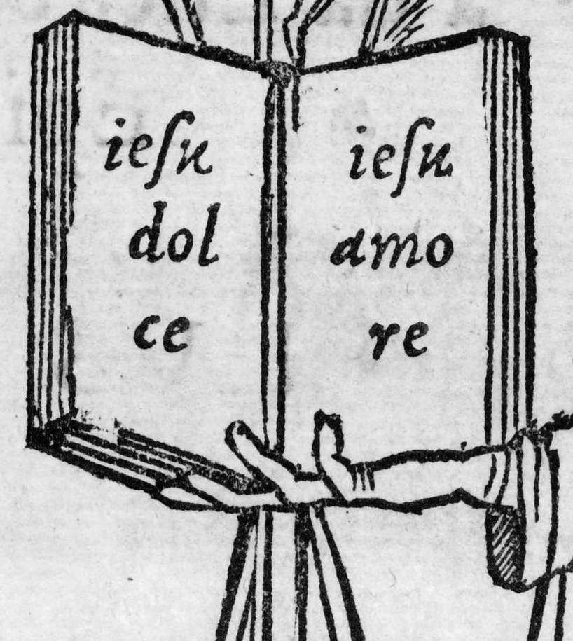 Il primo corsivo, dettaglio dalle Lettere di santa Caterina di Aldo Manuzio e pagina intera